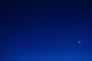 金星と三日月